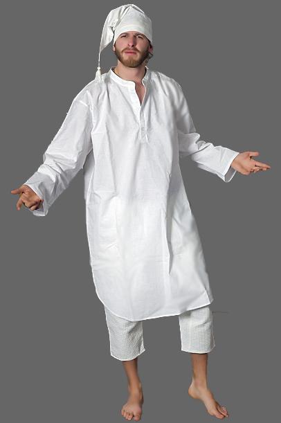 b0f2db1517270f Koszula męska nocna (biała) - Skarby Prababuni