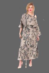 sukienka lniana wzór