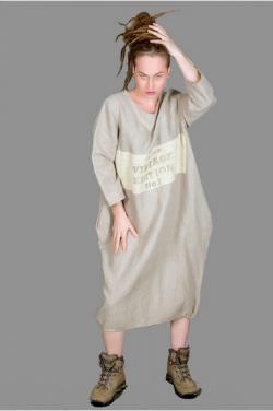 553e36fabd sukienka lniana 2 z nadrukiem